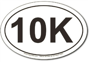 10K oval car magnet