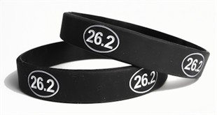 26.2 Marathon Run Training Rubber Wristband - Adult 8&quot;