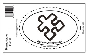 Autism Awareness Oval Removable Decal
