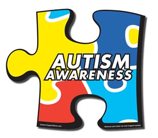 "Autism Large Car Door  Magnet - 10"" x 9"""