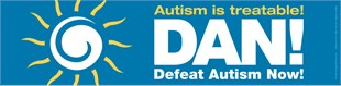 Defeat Autism Now Car Magnet 3&quot; x 11.5&quot;