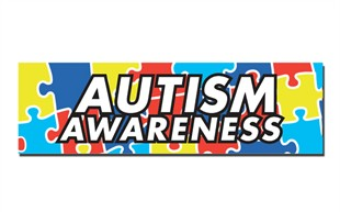"Autism Awareness Car Magnet 3"" x 10"""