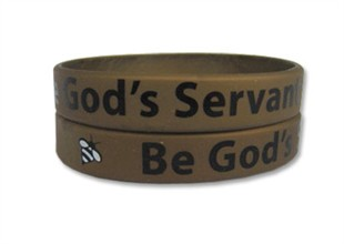 &quot;Be God's Servant&quot; Rubber Bracelet Wristband - Adult 8&quot;