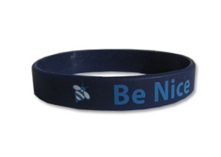 &quot;Be Nice&quot; Rubber Bracelet Wristband - Adult 8&quot;
