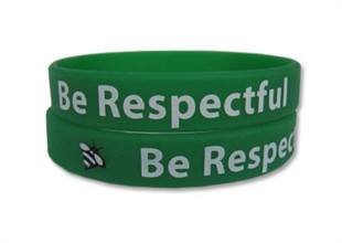 &quot;Be Respectful&quot; Rubber Bracelet Wristband - Adult 8&quot;