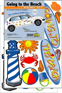 Beach Car Magnet Set