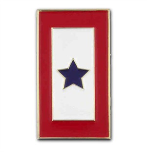 Blue Star Service Banner Lapel Pin