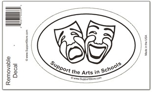 DRAMA - Support the Arts in Schools Sticker Decal - Oval