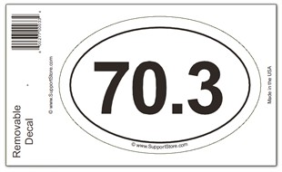 70.3 Bumper Sticker Decal - Oval