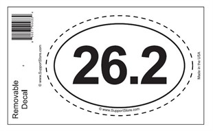 26.2 Bumper Sticker Decal - Oval