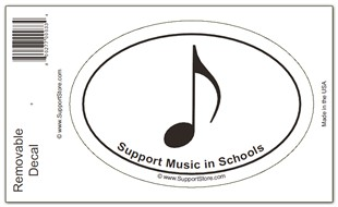 Support Music in Schools Sticker Decal � Oval