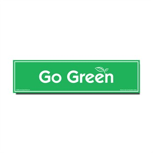 �Go Green� Car Magnet