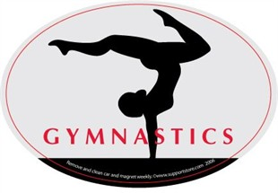 Gymnastics Car Magnet