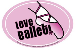 Love Ballet Car Magnet