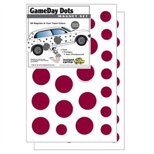 Game Day Dot Magnets - Maroon & White