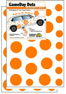Game Day Dot Magnets - Orange & White