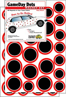 Game Day Dot Magnets - Red & Black