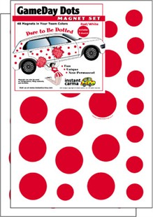 Game Day Dot Magnets - Red & White