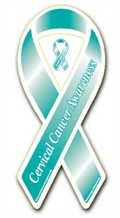 "Cervical Cancer Awareness Ribbon Magnet - 3.5"" x 8"""