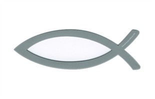 Christian Fish Magnet Silver