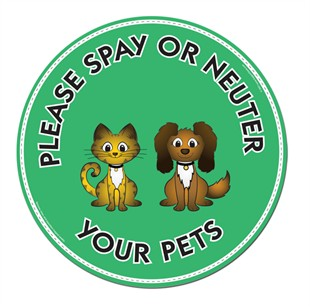 """Please Spay or Neuter Your Pets"" Car Magnet"