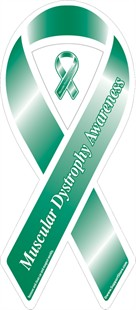 Muscular Dystrophy Awareness Green Ribbon Magnet
