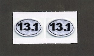 Embroidered 13.1 Oval Stick-on Applique