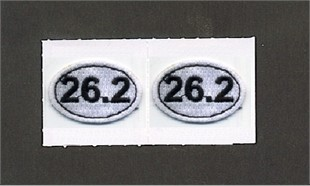 Embroidered 26.2 Oval Stick-on Applique