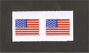 Embroidered USA Flag Stick-on 2-pack
