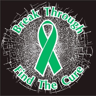 Green Break Through...Find The Cure!  Static Window Cling