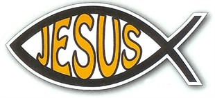 Jesus Fish Car Magnet