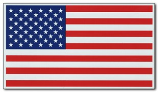 Old Glory 4&quot; x 7&quot; US flag magnet - value priced