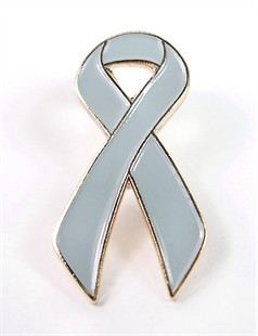 Grey Ribbon Lapel Pin
