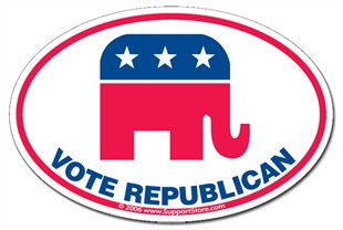 """Vote Republican"" Bumper Sticker Decal"