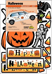 A &quot;Halloween costume for your car!&quot; Magnet Set