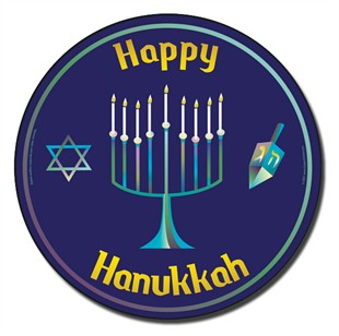 Happy Hanukkah Car Magnet
