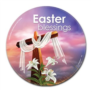 Easter Blessings Christian Car Magnet