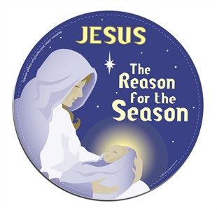 Jesus - The Reason for the Season Christmas Christian Car Magnet