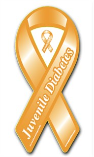 Juvenile Diabetes Awareness Orange Ribbon