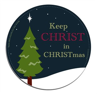 Keep CHRIST In CHRISTmas Christian Car Magnet