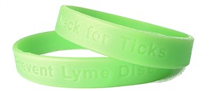 Lyme Disease - Check for Ticks reminder wristband - Adult 8&quot;