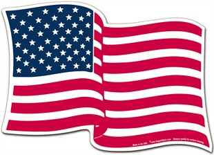 American Flag Magnet - 5&quot; x 7&quot; Wavy