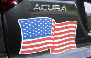 American Flag Magnet - 7&quot; X 12&quot; Wavy