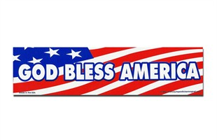"""God Bless America"" Car Magnet"