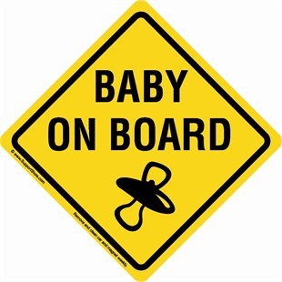 &quot;Baby On Board&quot; Sign Car Magnet