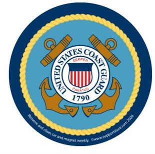 US Coast Guard Logo Car Magnet