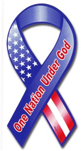 One Nation Under God Ribbon Christian Car Magnet
