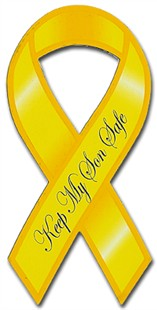 Keep My Son Safe Ribbon Car Magnet