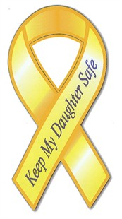 Keep My Daughter Safe Ribbon Car Magnet