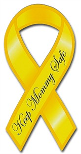 Keep Mommy Safe Ribbon Car Magnet
